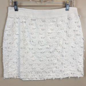 Vineyard Vines White Skirt w Side Zip NWOT Size 4